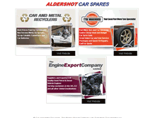 Tablet Preview of aldershotcarspares.co.uk